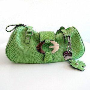 Guess Mint Green Faux Snake Reptile Skin Handbag